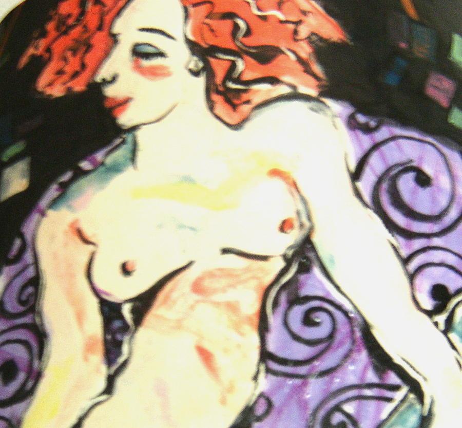 Nude Redhead Ceramic Art