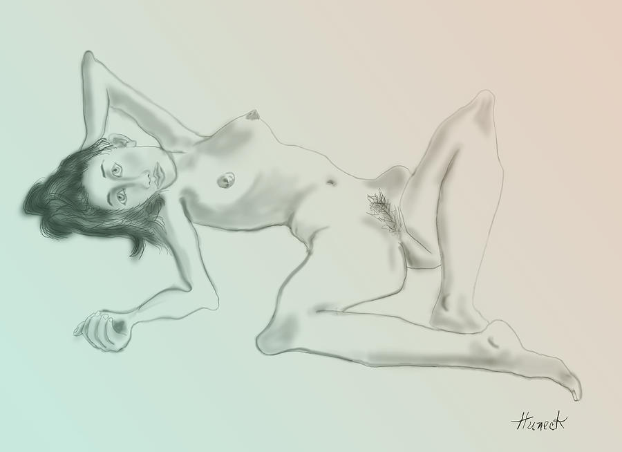 Nude Sketch 2 Digital Art