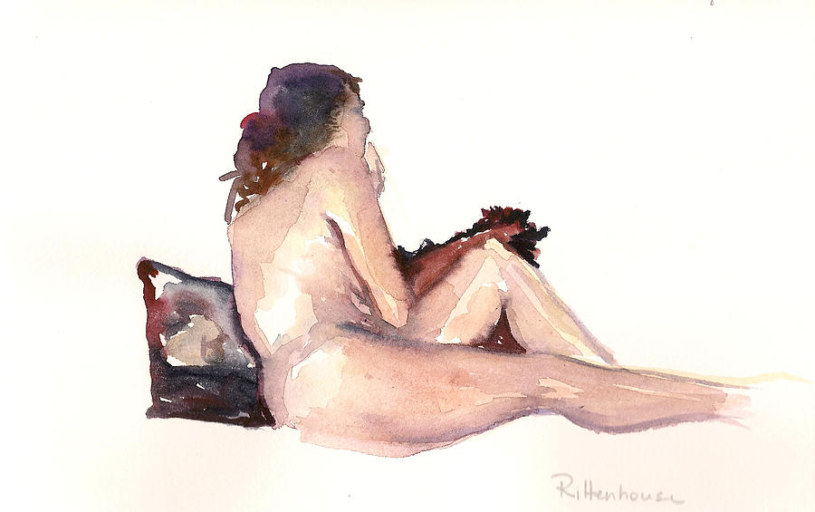 Nude Woman Seated Painting