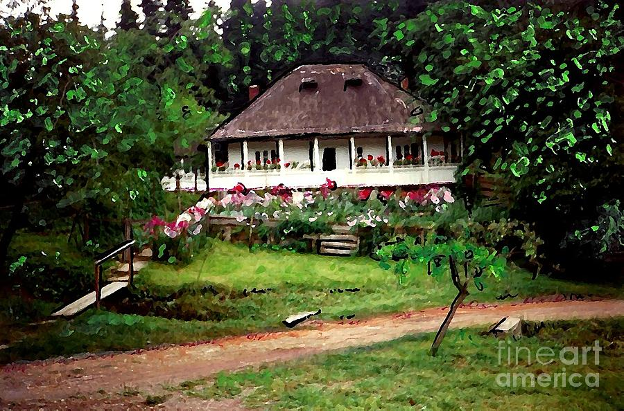 Nuns House In Agapia Photograph  - Nuns House In Agapia Fine Art Print