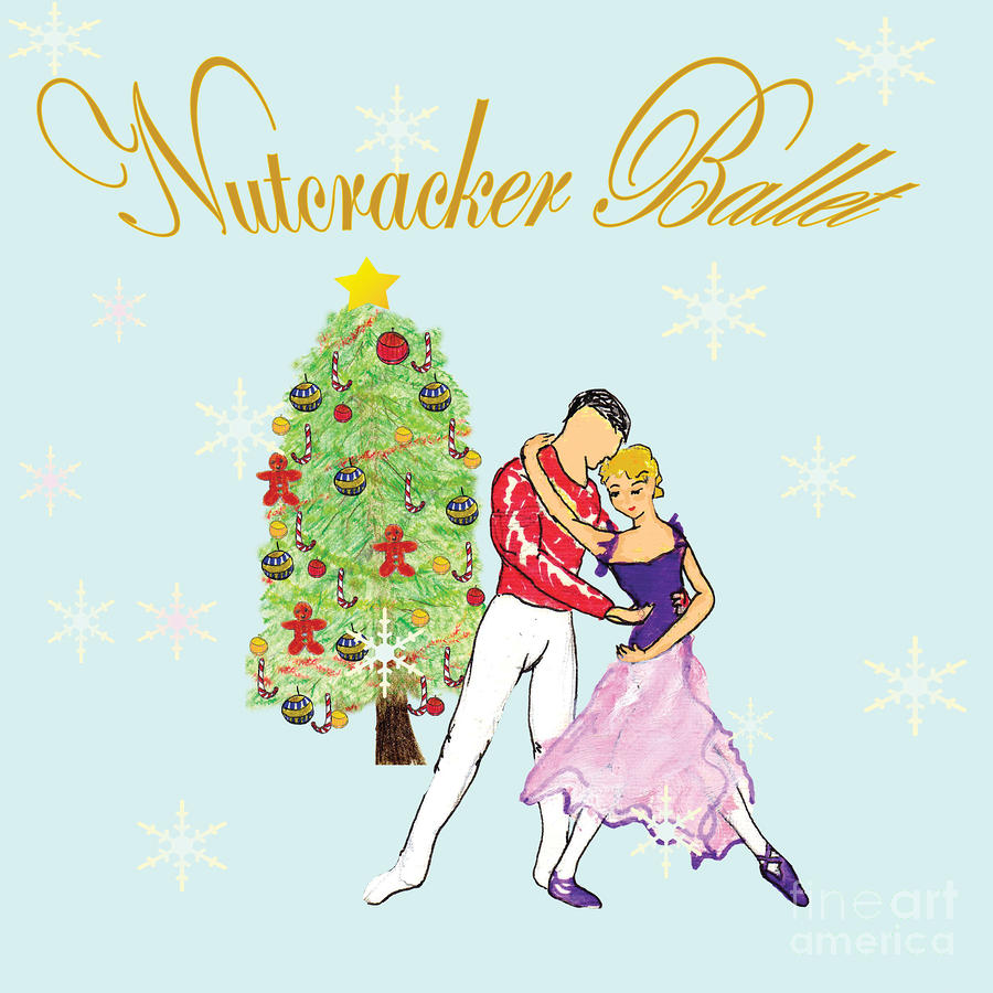 Nutcracker Ballet Romance Mixed Media