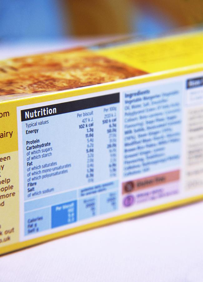 Nutrition Label Photograph