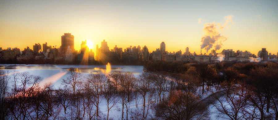 Ny Winter Panaroma Photograph  - Ny Winter Panaroma Fine Art Print