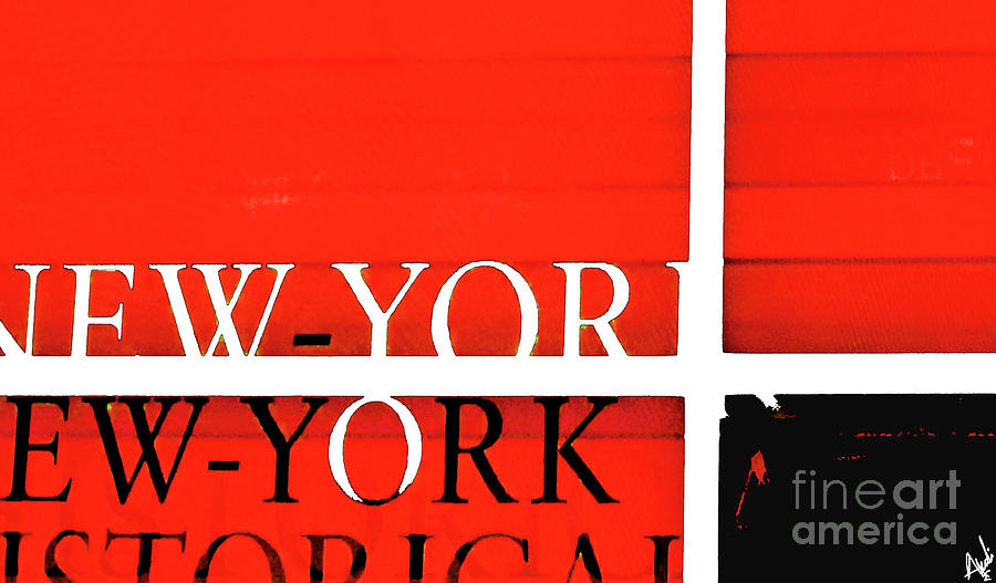 Nyc Abstract In Red And Black Painting
