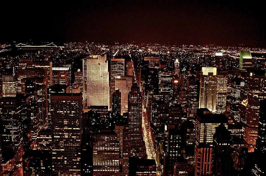 Nyc At Night Photograph  - Nyc At Night Fine Art Print