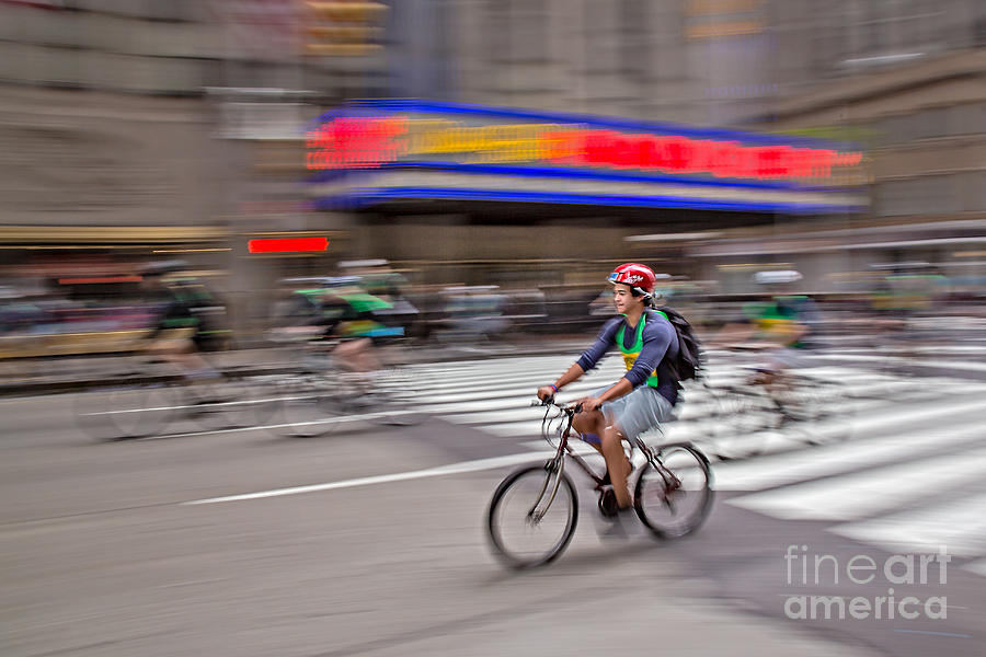 Nyc Bike Tour Photograph  - Nyc Bike Tour Fine Art Print