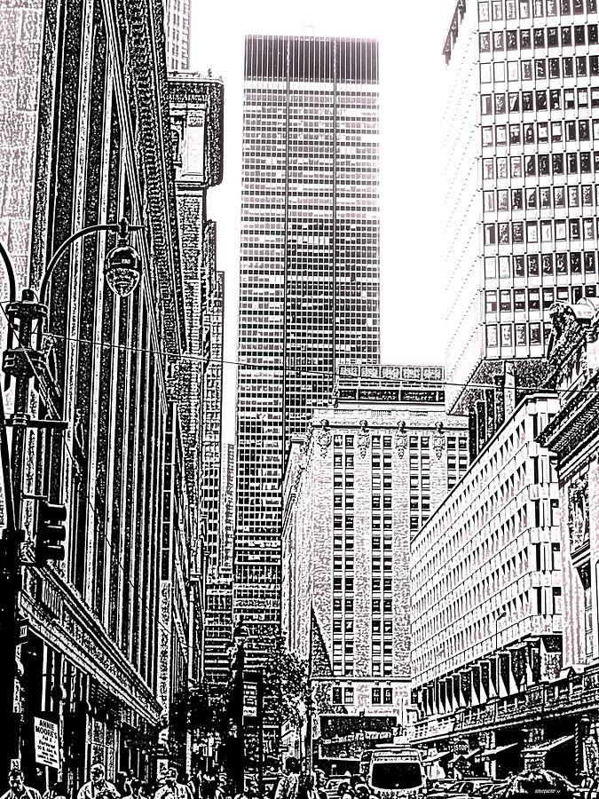 Nyc Buildings Labyrinth Photograph  - Nyc Buildings Labyrinth Fine Art Print