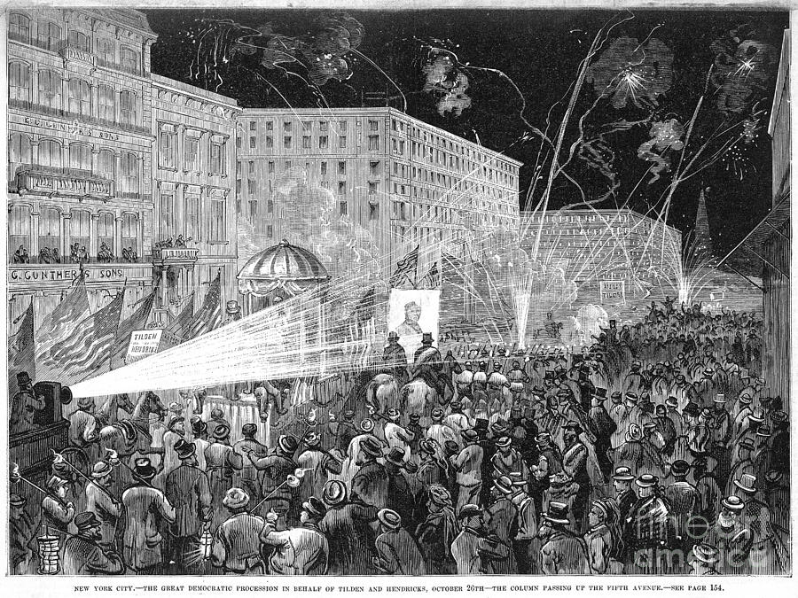 Nyc: Democrat Parade, 1876 Photograph