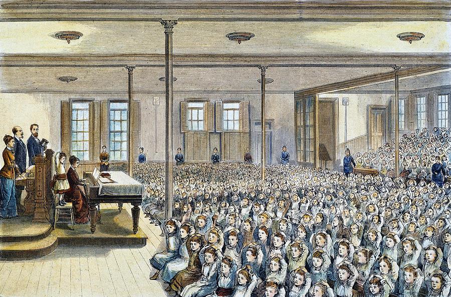Nyc School Room, 1881 Photograph