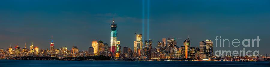 Nyc Tribute In Light Skyline Panorama I Photograph