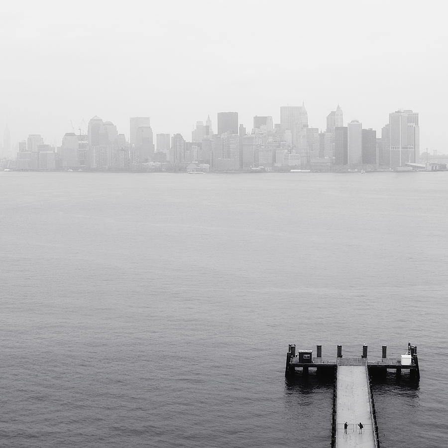 Nyc View From Liberty Island Photograph
