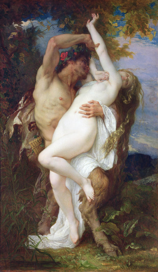 Nymph Abducted By A Faun Painting