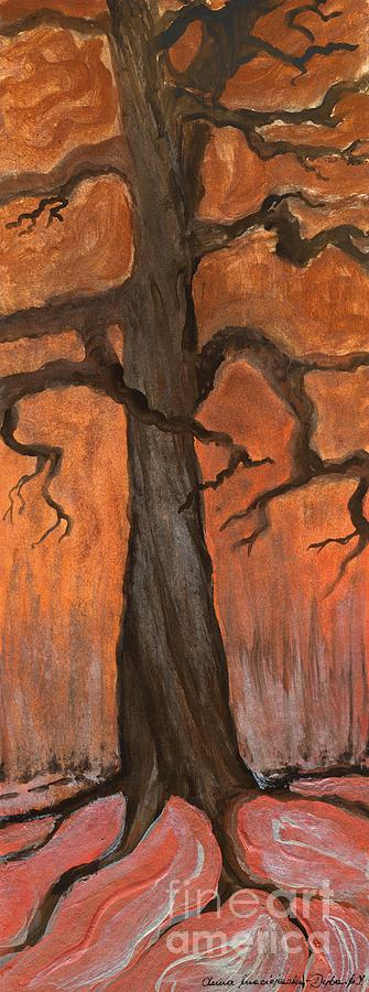 Oak Tree In The Fall Painting  - Oak Tree In The Fall Fine Art Print
