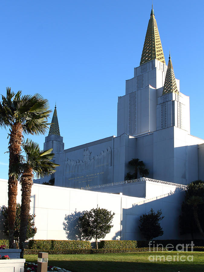 Oakland California Temple . The Church Of Jesus Christ Of Latter-day Saints . 7d11329 Photograph  - Oakland California Temple . The Church Of Jesus Christ Of Latter-day Saints . 7d11329 Fine Art Print