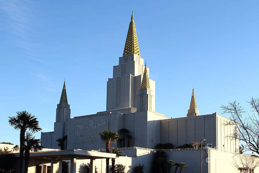 Oakland California Temple . The Church Of Jesus Christ Of Latter-day Saints . 7d11375 Photograph  - Oakland California Temple . The Church Of Jesus Christ Of Latter-day Saints . 7d11375 Fine Art Print