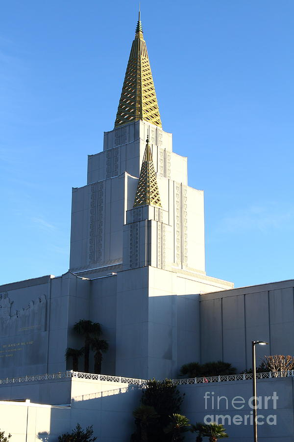 Bayarea Photograph - Oakland California Temple . The Church Of Jesus Christ Of Latter-day Saints . 7d11377 by Wingsdomain Art and Photography