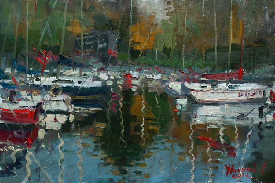 Oakville Harbour On Painting  - Oakville Harbour On Fine Art Print
