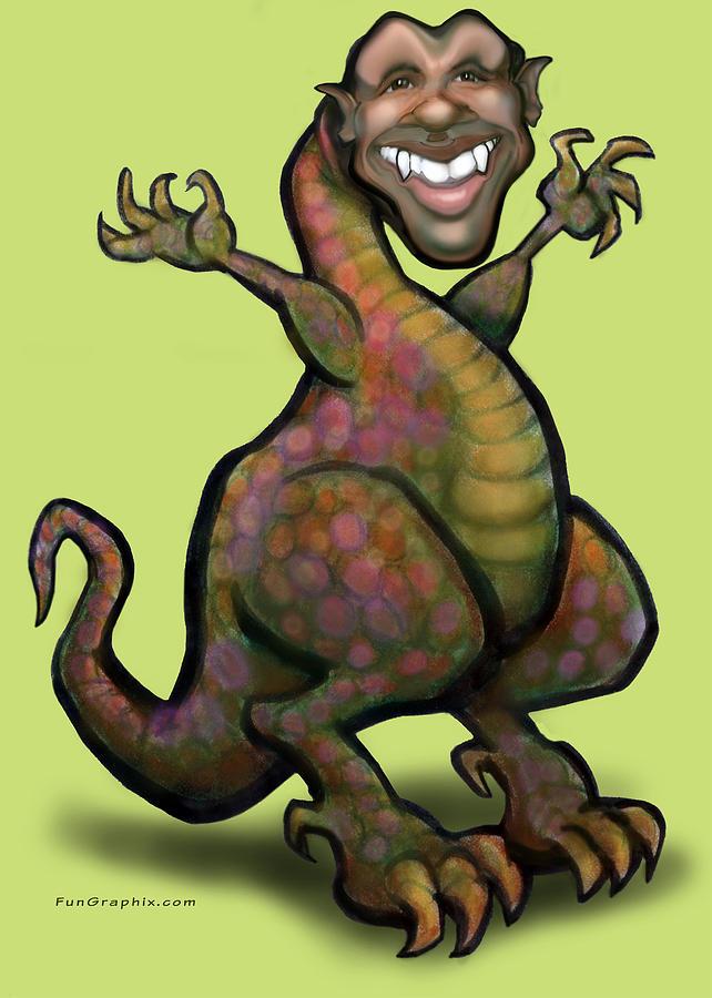 Obama Saurus Rex Greeting Card