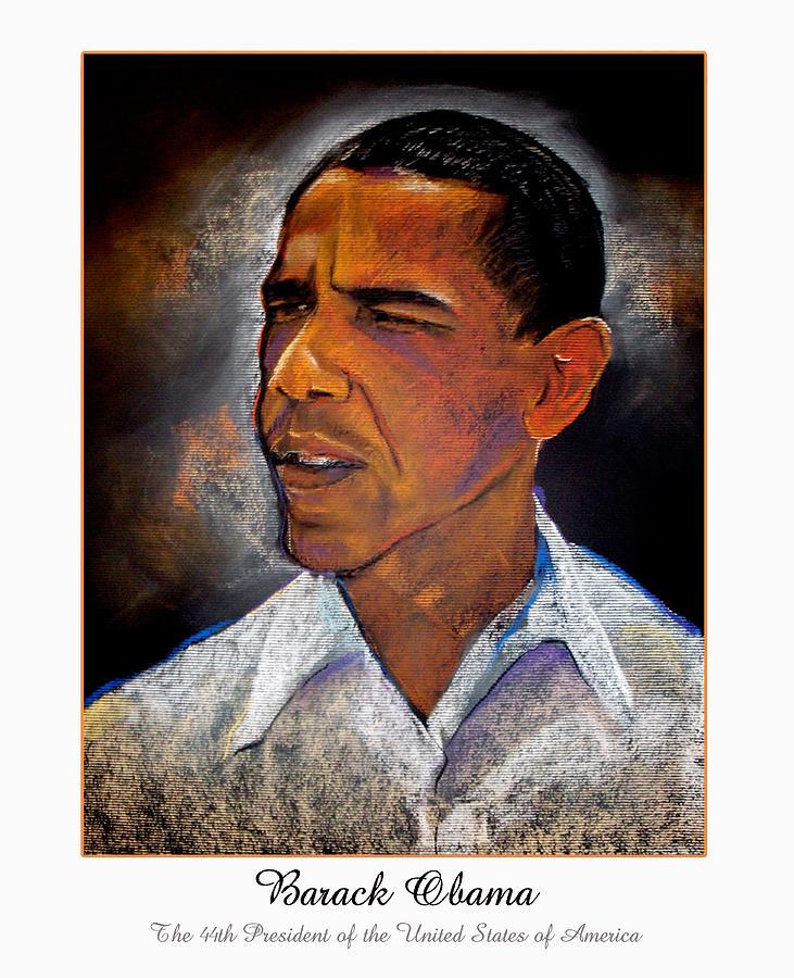 President Obama Digital Art - Obama. The 44th President. by Fred Makubuya