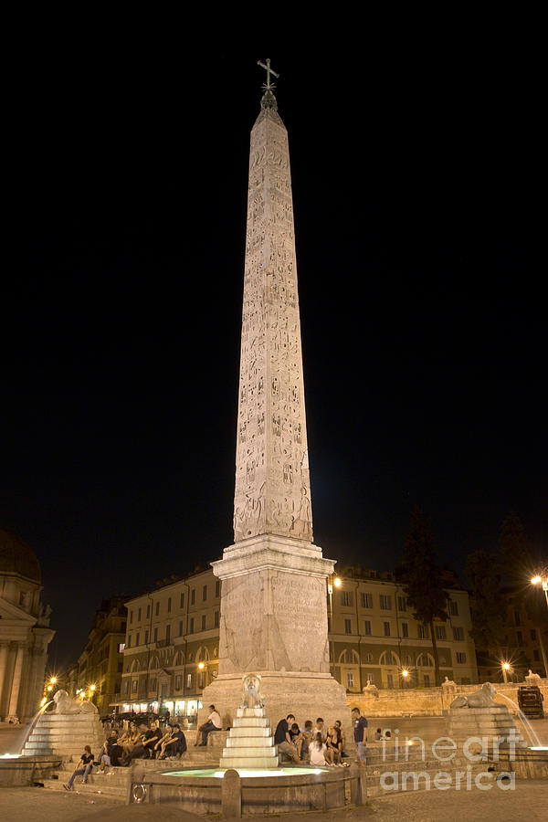 Obelisco Flaminio Photograph  - Obelisco Flaminio Fine Art Print