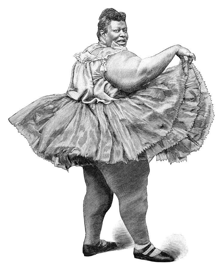 Obese Woman, 19th Century Photograph