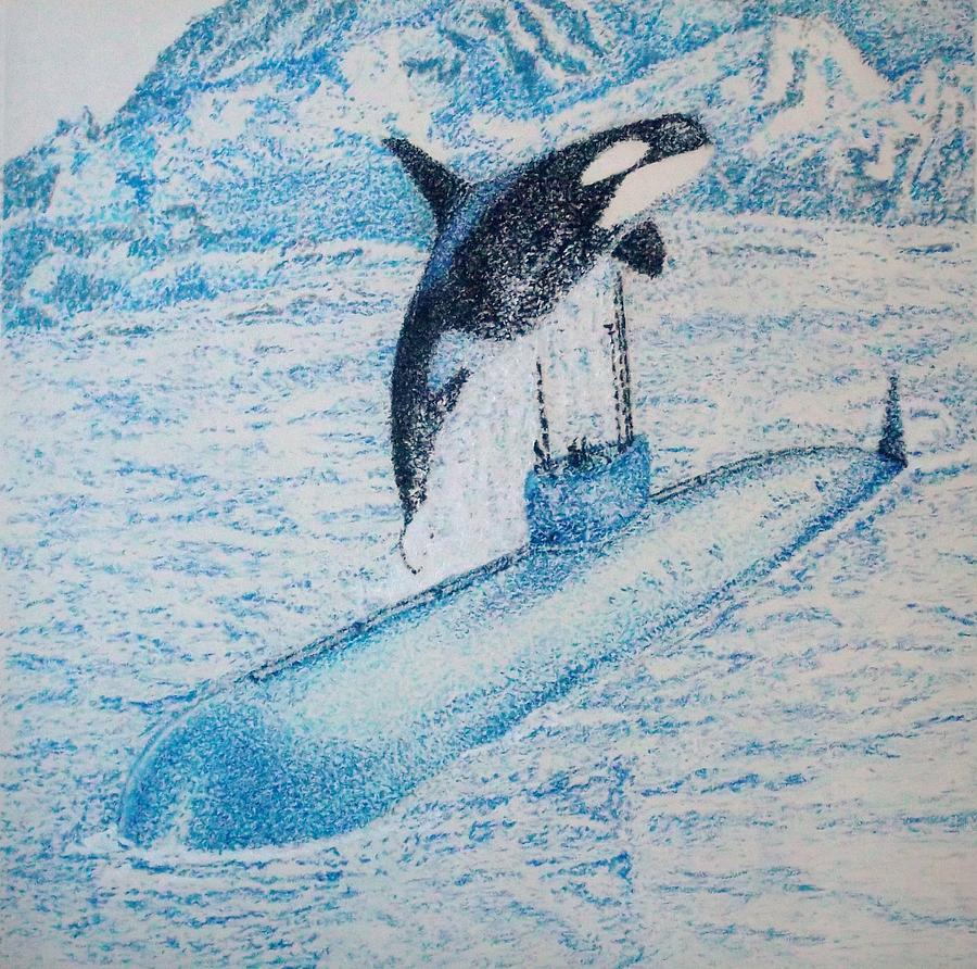 Whale Pastel - Observing Nature A by John Fierro