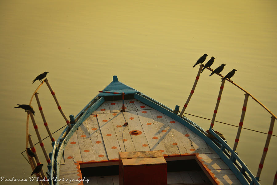 Horizontal Photograph - Occupied Boat On Ganges by Www.victoriawlaka.com