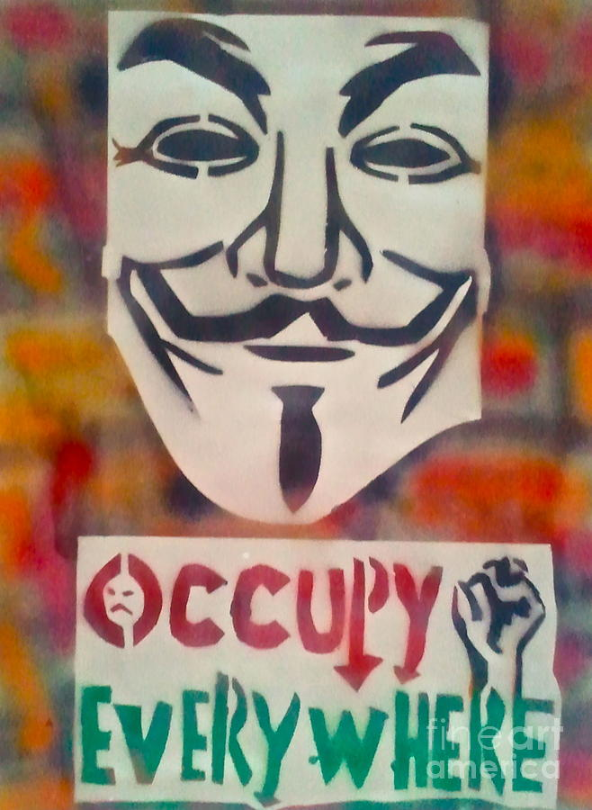 Occupy Mask Painting  - Occupy Mask Fine Art Print