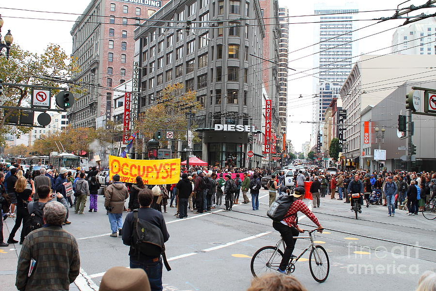 Occupy Sf . 7d9733 Photograph  - Occupy Sf . 7d9733 Fine Art Print