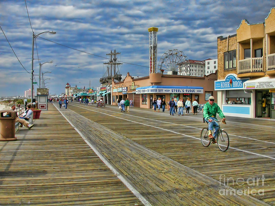Ocean City Boardwalk Photograph  - Ocean City Boardwalk Fine Art Print