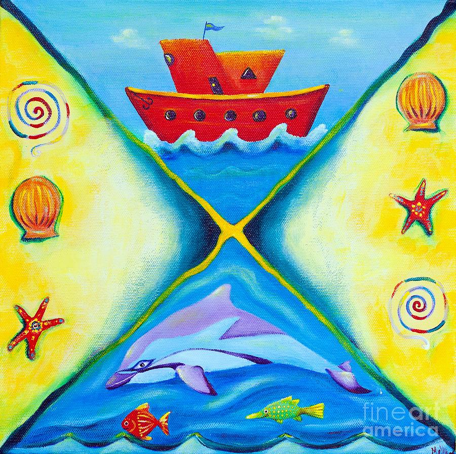 Ocean Daydreaming Painting  - Ocean Daydreaming Fine Art Print