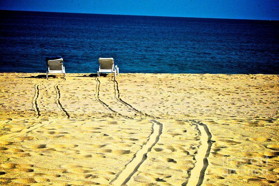 Ocean Front Row Photograph