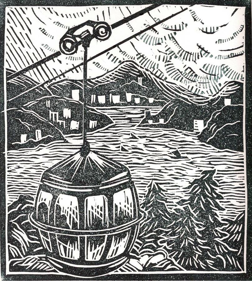 Ocean Park Gondola Drawing