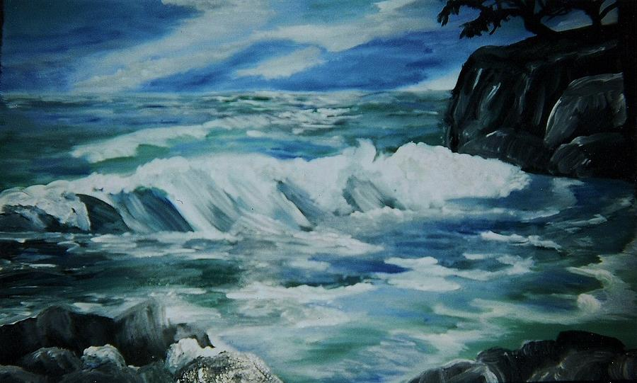 Ocean Waves Painting  - Ocean Waves Fine Art Print