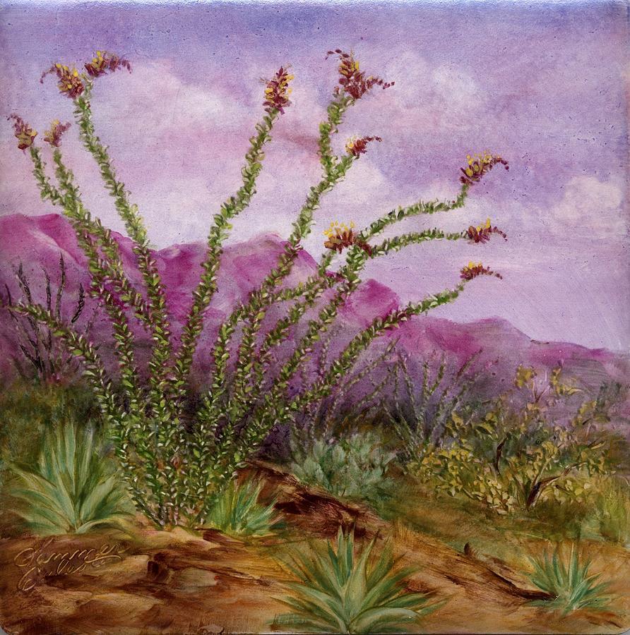 Ocotillo Scene1 Painting