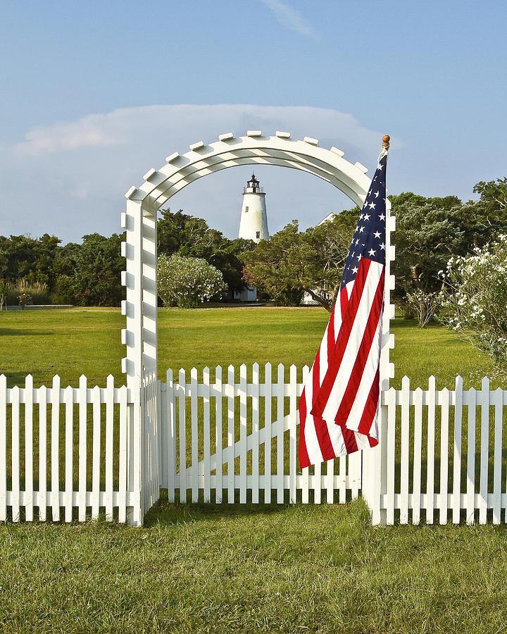 Ocracoke Lighthouse July 4th Photograph