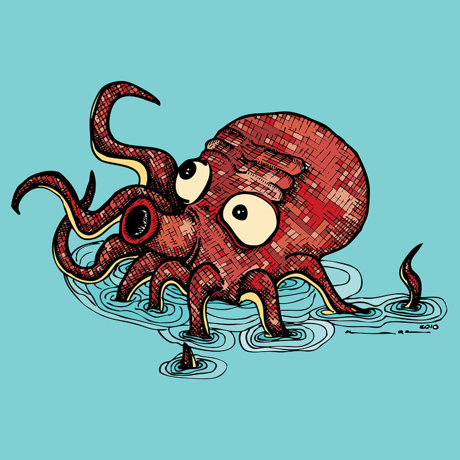 Octopus - Color Drawing