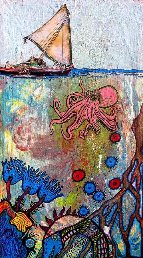 Octopus Garden Painting By Garrett Lacy