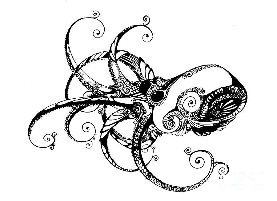 Line Art Octopus : Octopus by irina yezhova