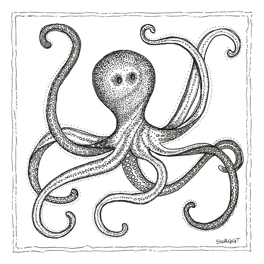Octopus Drawing  - Octopus Fine Art Print