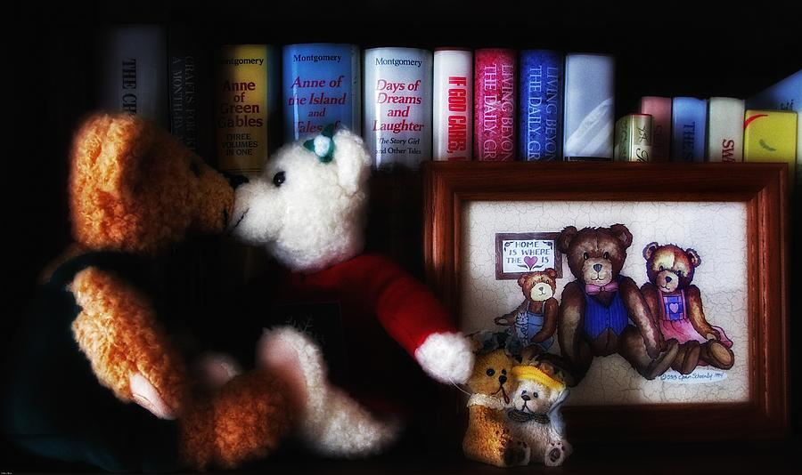 Of Books And Bears Photograph  - Of Books And Bears Fine Art Print