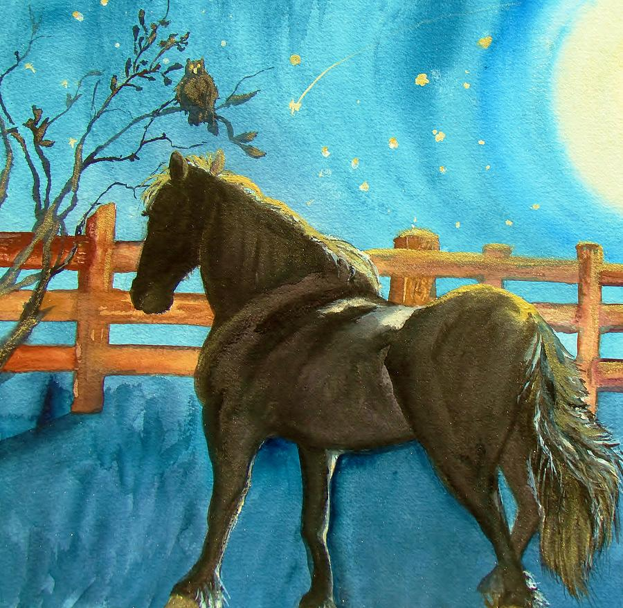 Of Horses And Wishes Painting  - Of Horses And Wishes Fine Art Print