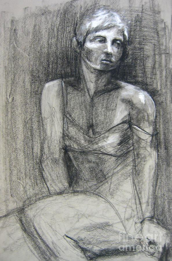Figure Drawing - Off The Shoulder by Gabrielle Wilson-Sealy