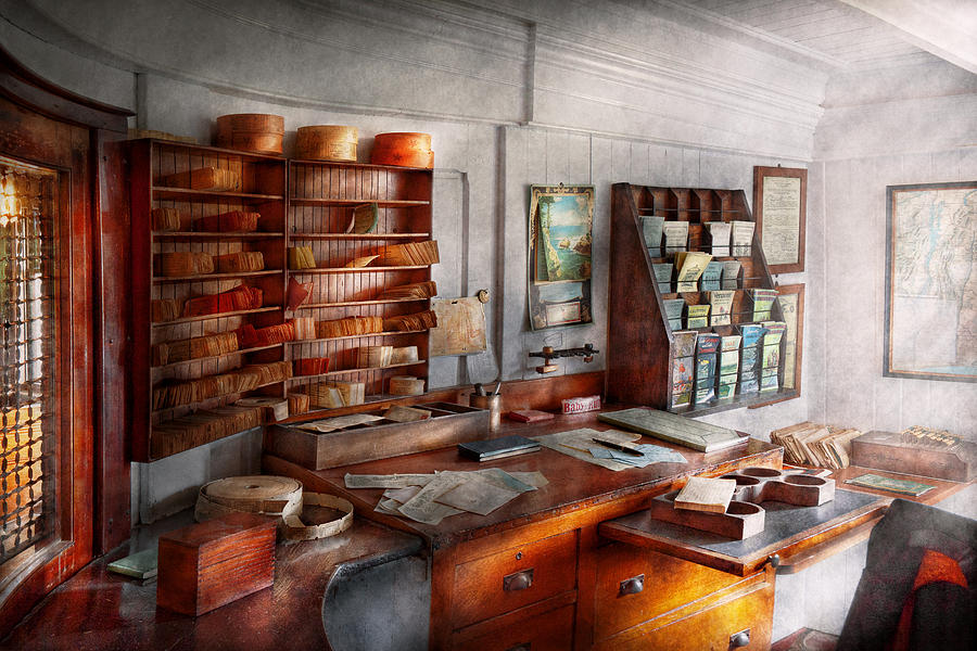 Purser Photograph - Office - The Pursers Room by Mike Savad