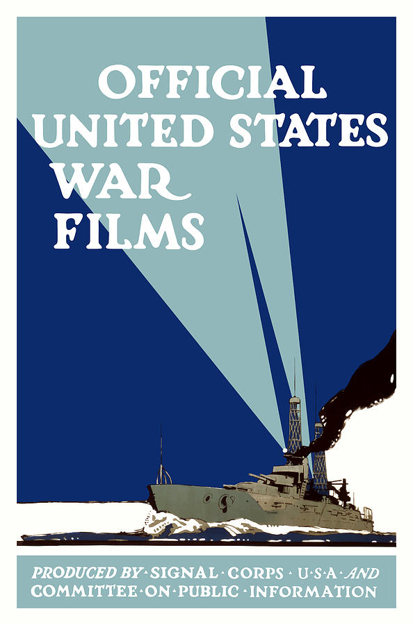 Official United States War Films Painting  - Official United States War Films Fine Art Print