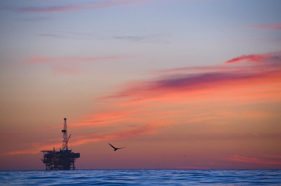 Offshore Oil And Gas Rig In The Pacific Photograph