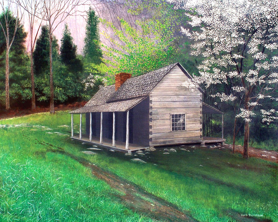 Ogle Homestead Gatlinburg Tn Painting  - Ogle Homestead Gatlinburg Tn Fine Art Print