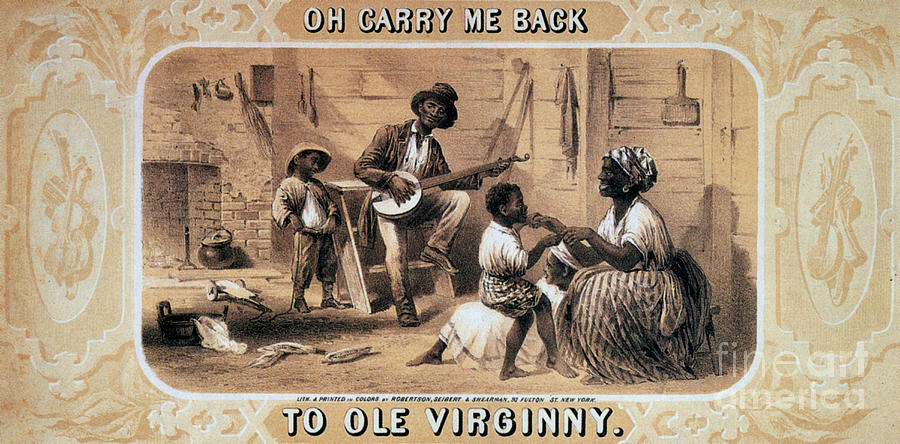 Oh Carry Me Back To Ole Virginny, 1859 Photograph  - Oh Carry Me Back To Ole Virginny, 1859 Fine Art Print