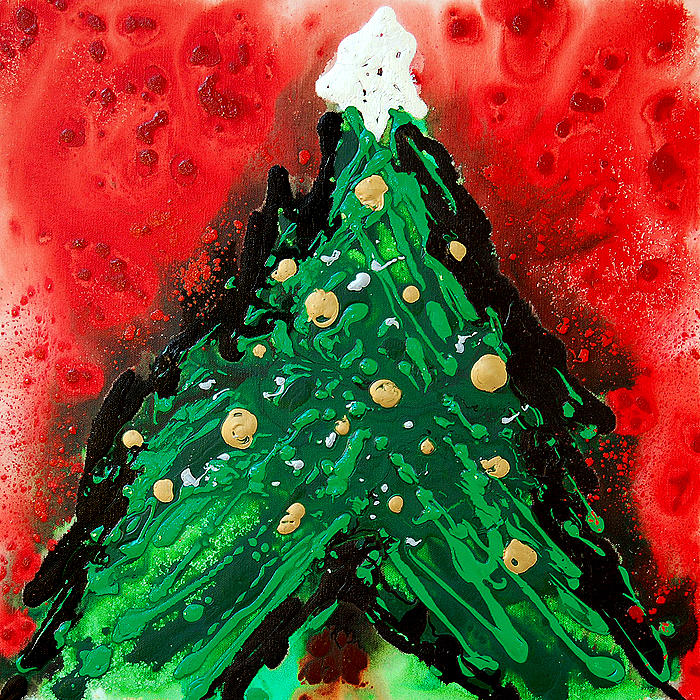 Christmas Abstract Paintings Abstract Christmas Tree