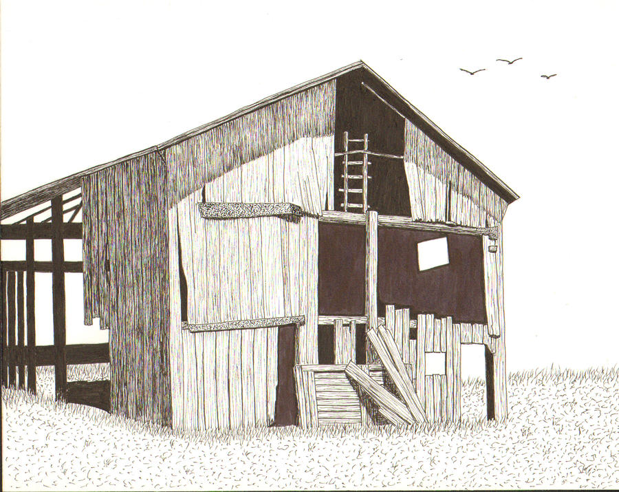 Ohio Barn Drawing  - Ohio Barn Fine Art Print